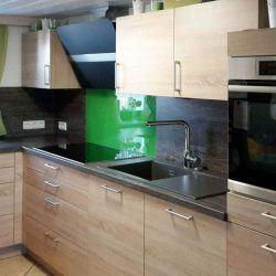 Küche mit grün